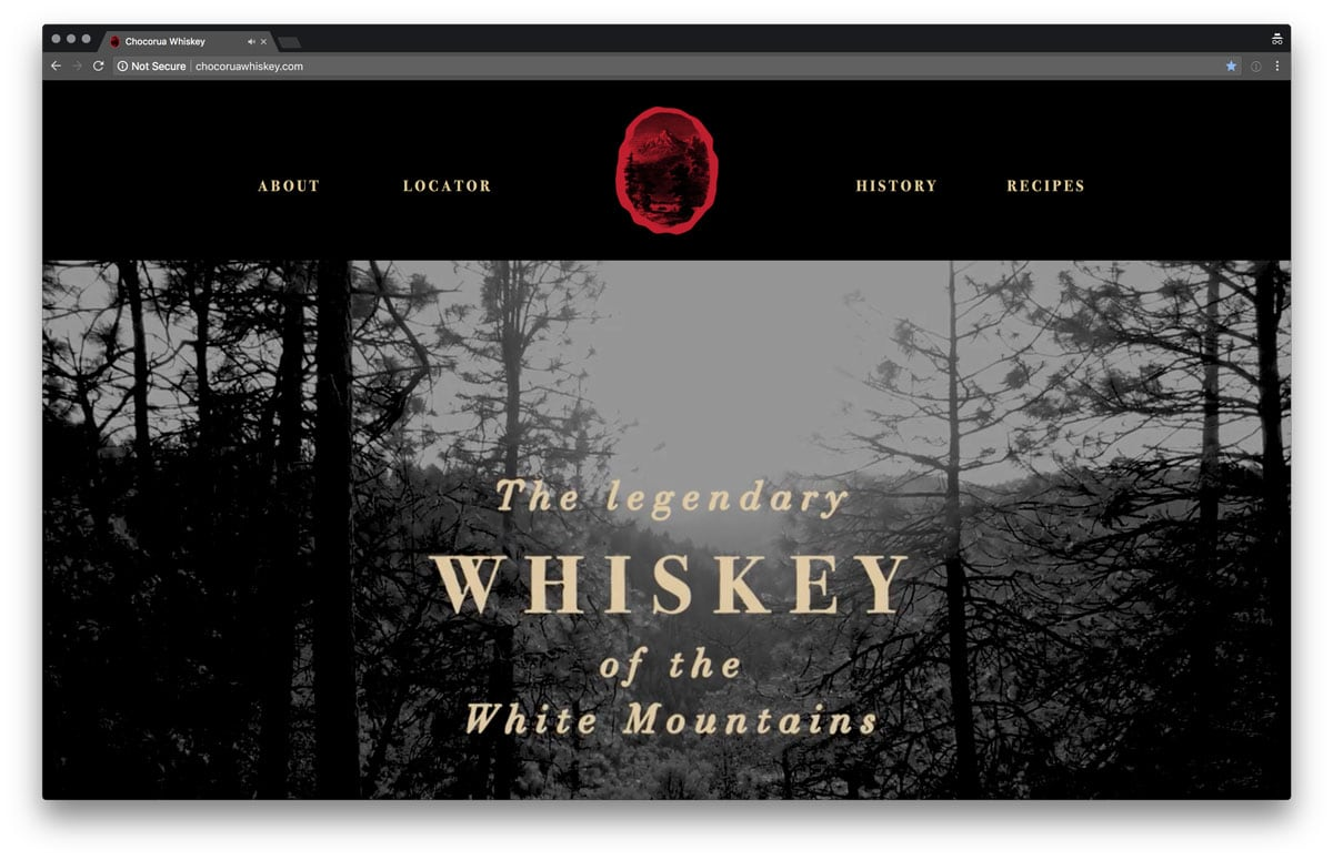 Chocorua Whiskey Website